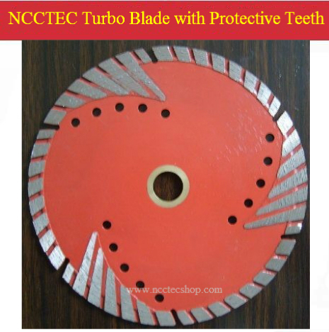 7'' NCCTEC Diamond turbo saw blade with protective teeth (5 pcs per package) | 180mm DRY granite marble cutting disk
