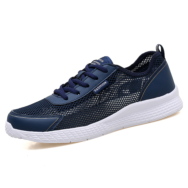 2018 Plus Size 39-48 Summer Men's Running Shoes Breathable Mesh Athletic Trainers Sports Shoes Outdoor Ultra Light Sneakers