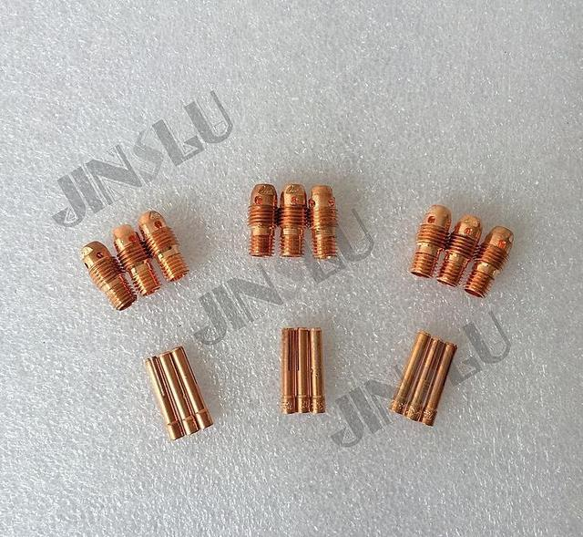 WP-9 WP9 WP20 WP25 Collet Body Collet Kit 18PK for Tig Torch Consumables