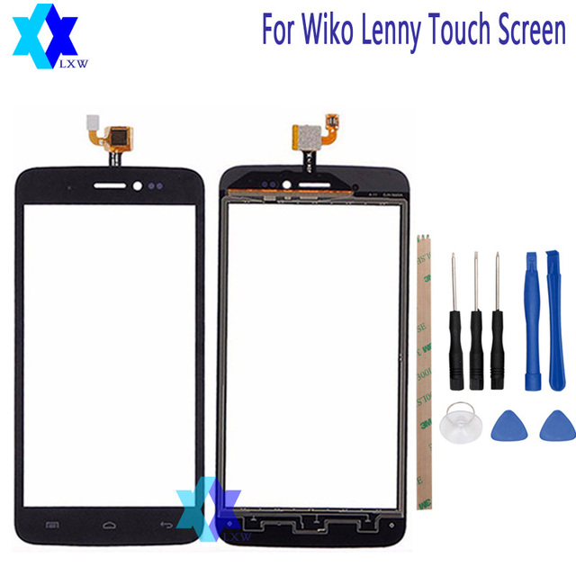 For WIKO Lenny Touch Screen Original Guarantee Original New Glass Panel Touch Screen Tools+Adhesive Stock
