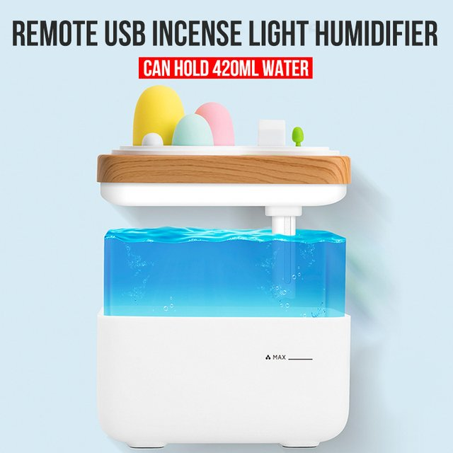 2019 Drop Shpping ABS Night Light Aroma Diffuser Romantic Creative Office Humidifier for Ultrasonic