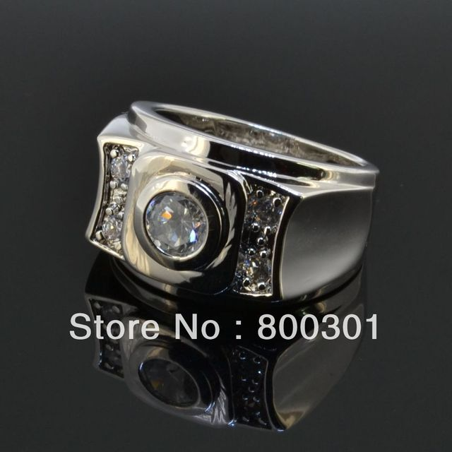 Vintage Jewelry Anel de Prata Men's Big Ring Sterling Silver Bijouterie Male Wedding Accessories