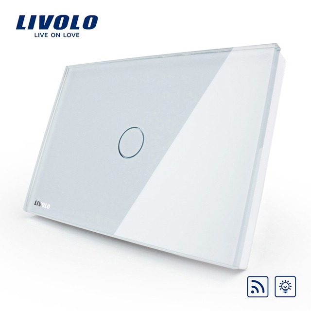 Livolo US/AU Standard Wall Light Wireless Remote Dimmer Switch ,AC110~250V, White Glass Panel, VL-C301DR-81,No remote controller