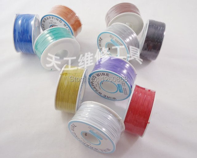 305m long electrical wire line high quality single core electrical wire line cable 30awg ok line q9 ok line