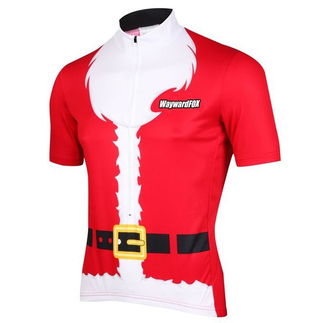 Merry Christmas Man Customized 2017 Wayward pro / road RACING Team Bicycle Bike Pro Cycling Jersey / Wear / Clothing Breathable