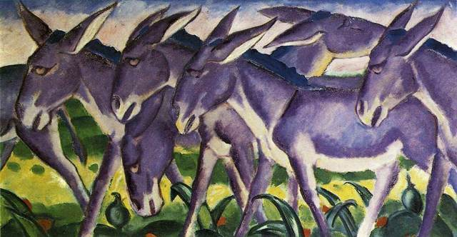 Donkey Frieze by Franz Marc Painting Oil on canvas High quality hand painted abstract art reproduction