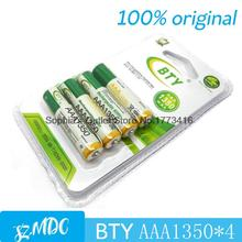 BTY-7-1350 4 pieces BTY ni-mh aaa 1350mah 1.2V Rechargeable Battery accumulator