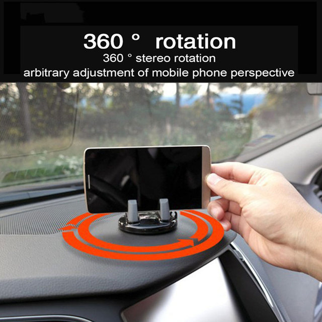 Vehicle Bracket Automobile Bracket Vehicle Dashboard Rotatable Table Car Multi-Scene Use Soft Silicone Five Colors