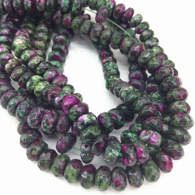 Charms 5 shape red green zoisite stone oval abacus oval coin loose spacers beads elegant women diy jewelry 15inch B513
