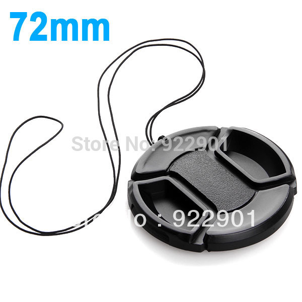 wholesale 72mm center pinch Snap-on cap cover for Canon Nikon 72 mm Lens