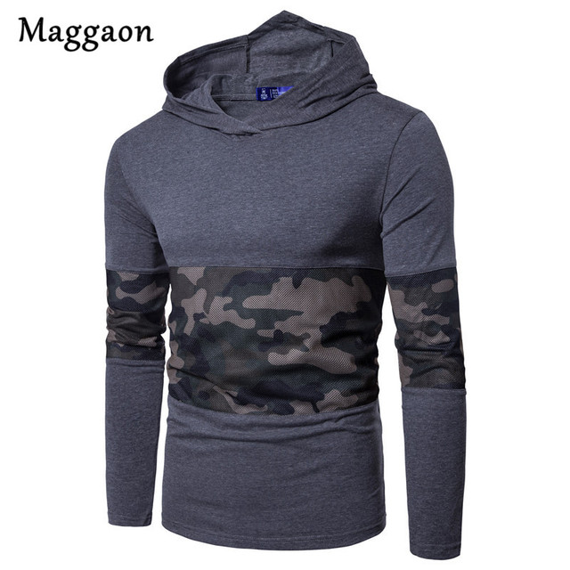 2018 New Fashion Men Hoodies Long Sleeve Casual Sweatshirt Fit Slim Hooded Sportwear Camouflage Hooded Sweatshirts Man's Jacket