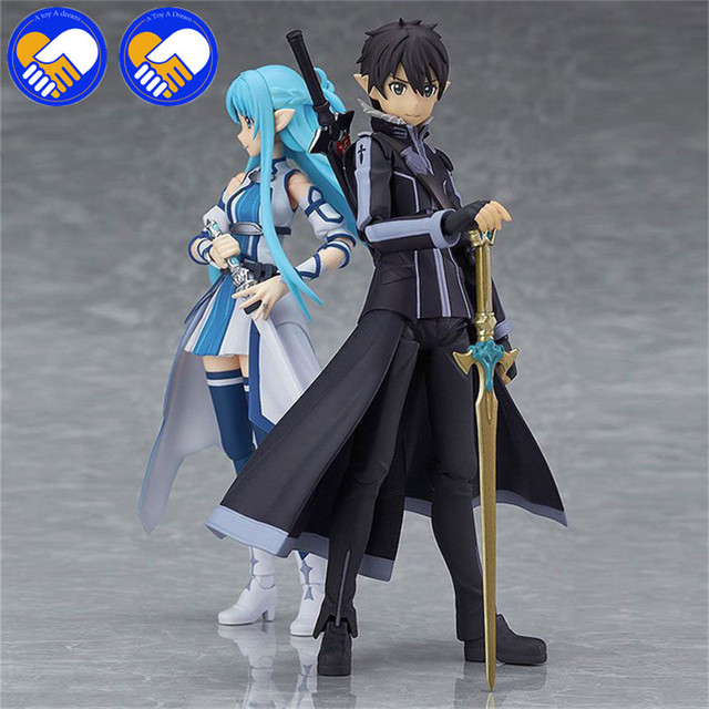 Anime Figma 264 Sword Art Online II KIRITO ALO ver. ALOver Kirigaya Kazuto PVC Action Figure Collectible Model Toy 14cm
