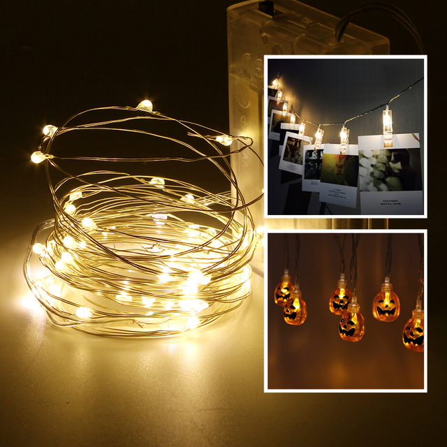 LED String Light 1M 2M 3M 5M 10M AA Battery Card Photo Clip Lamp for Party Festival Christmas Halloween Wedding Decoration