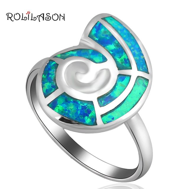 New designer ! Wholesale & Retail Blue Fire Opal silver color stamp Ring USA Size #6.5 #7.5 #8Opal Jewelry OR522