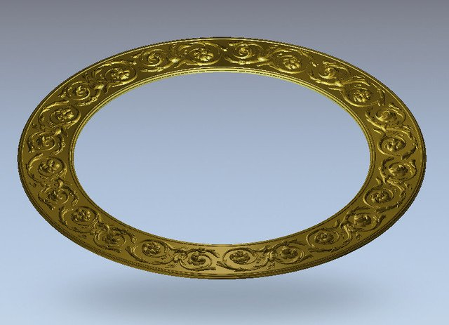 3D Round plate ring Relief Model in STL format for CNC Router Carving Engraving Artcam aspire R76