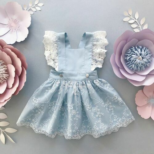 Baby Girl Toddler Flower Tutu Lace Dress Summer Princess Party Wedding princess fashion Comfortable Clothes