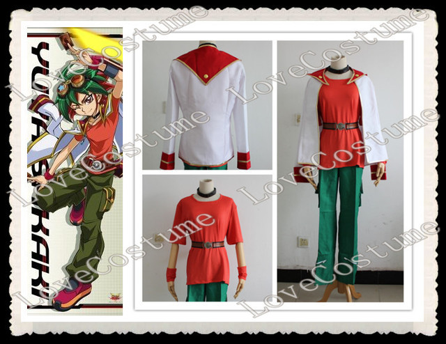 Yu-Gi-Oh! Arc-V Yu Gi Oh Arc V Trading Card Game Yuya Sakaki Cosplay Costume Tailor made