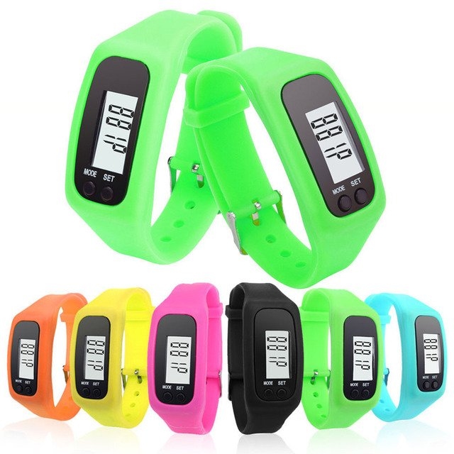Long-life battery Multifunction 6 Colors Digital LCD Pedometer Run Step Calorie Walking Distance Counter Outdoor Equipments