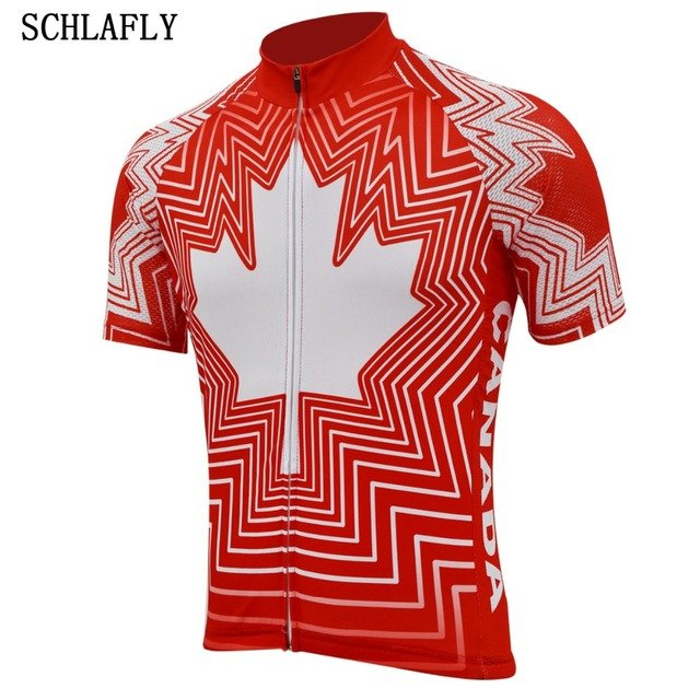 canada red maple leaf cycling jersey short sleeve summer bike wear jersey road jersey cycling clothing bicycle clothes schlafly