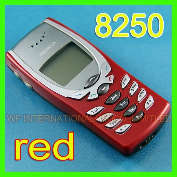 8250 One Year Warranty 2G GSM 900/1800 Unlocked Nokia 8250 Mobile Cell Phone Refurbished & Red