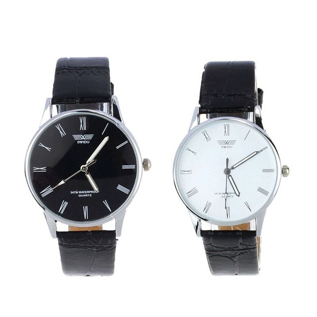 2018 NEW Quartz Sport Wrist Watch Mens Fashion Classic Men's Roman Number Quartz Electronic Leather Wrist Watches AP09A