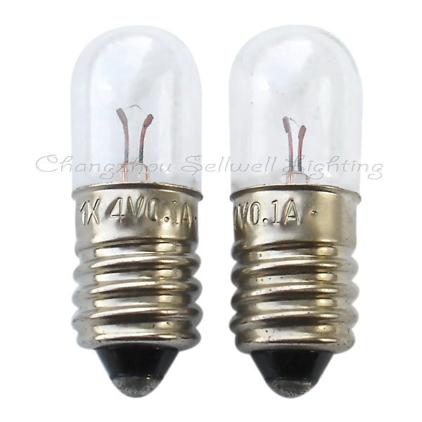 2020 Rushed Special Offer Commercial Ccc Ce Edison Lamp Lamp Edison New!miniature Light Bulb 4v 0.1a E10 T10x28 A112