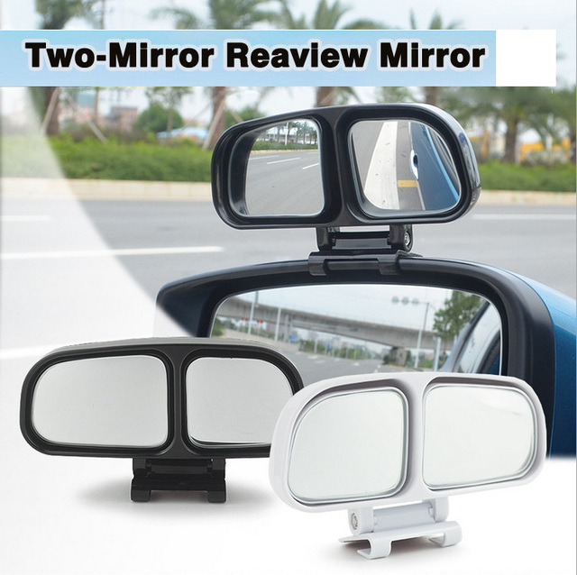 HUANLISUN 1PCS Car Rearview Blind Spot Mirror Double side mirror adjustable Wide angle Rear view
