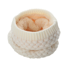 1PC Winter New Warmer Cowl Collar Circle Crochet Scarf For Women Girl O Ring Knitted Wool Scarf Solid Chunky Cable Snood Infinit