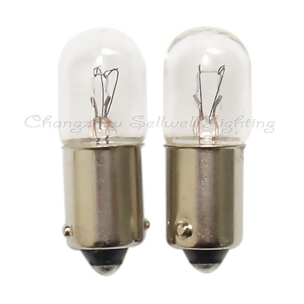 Free Shipping 12v 3w Ba9s T10x28 New!miniature Lighting Lamps A296