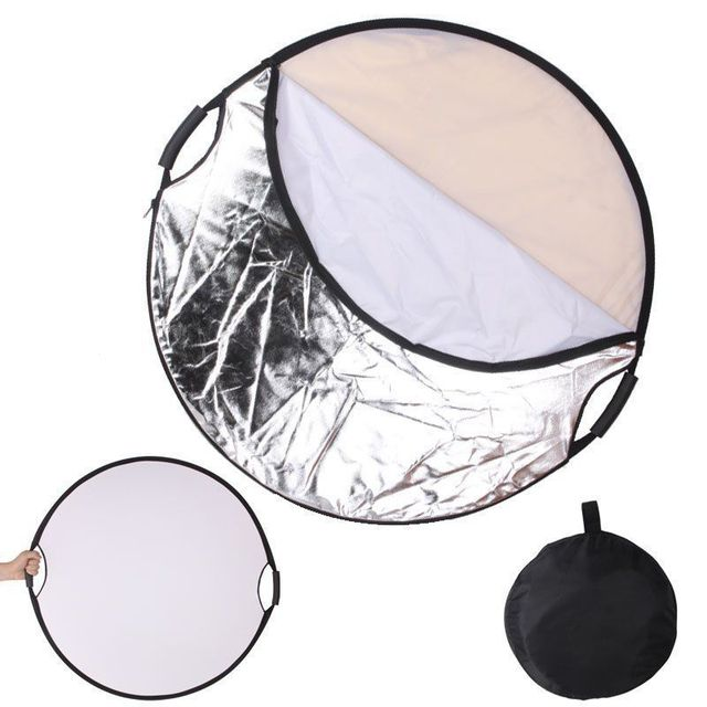 """Photography Reflector 32"""" 5in1 Light Mulit Collapsible Portable Reflector 80CM"""