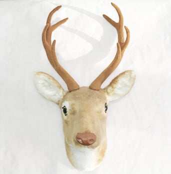 free shipping wall mounted deer head wall decoration handmade fake deer head