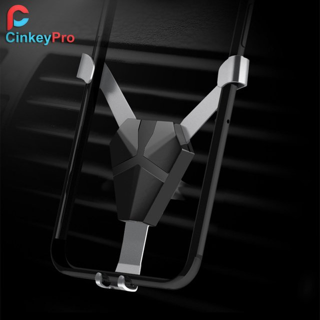 Car Phone Holder for iPhone Samsung Mount Stand No Magnetic Air Vent Mount Mobile Phone Universal Gravity Support CinkeyPro