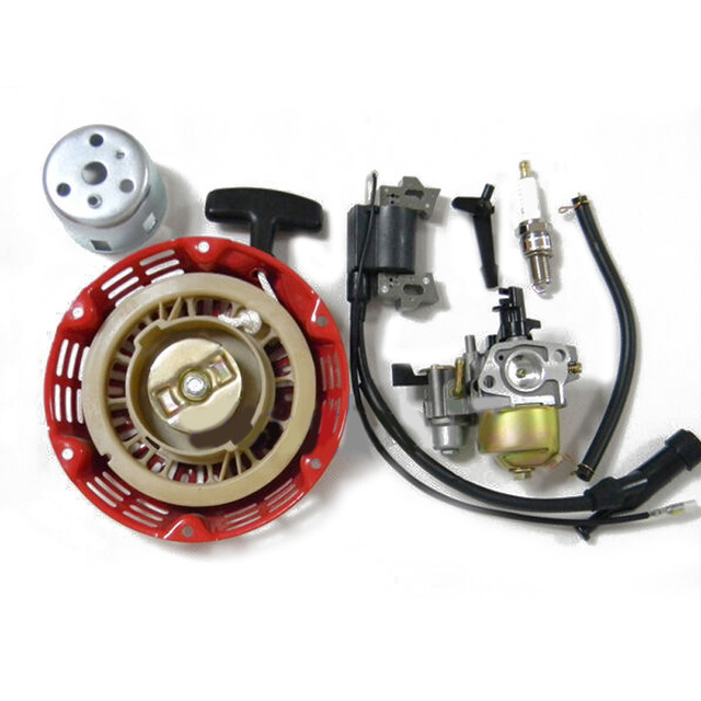 Starter Cup Ignition Coil Carburetor Kit Spare Parts Lawn Mover Pipe  For Honda GX110 GX120 4HP