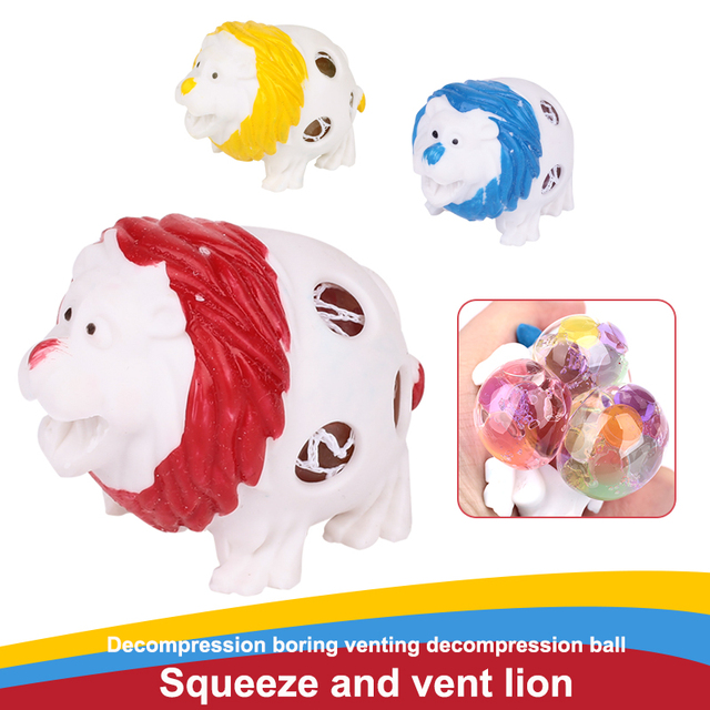 Squishy Toys Lion Funny Squishi Relief Toy TPR Bead Stress Ball Juguetes squishy squeeze Squishy small
