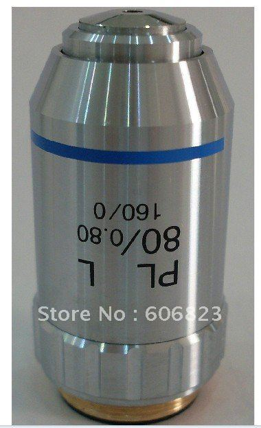 New 80X PLAN Achromatic OBJECTIVE Lens FOR METALLURGICAL MICROSCOPES! free shipping