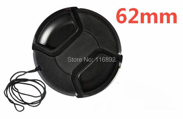 62mm center pinch Snap-on cap cover for 62mm  camera Lens