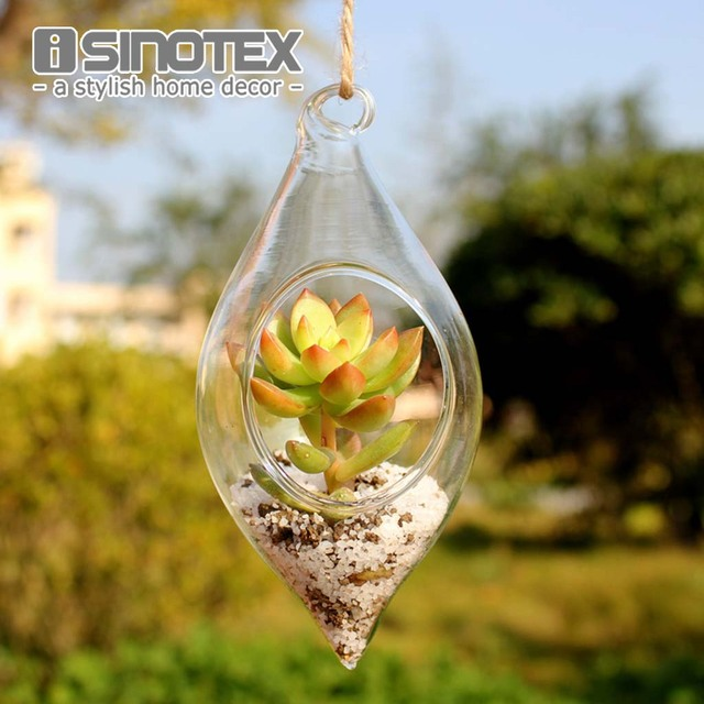 Hanging Glass Vase Hanging Terrarium Hydroponic 6*13cm/2.4*5'' Plant Flower Clear Container Indoor Hanging Vase Home Decor