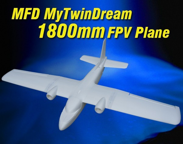 New MyTwinDream 1800mm FPV EPO RC Airplane Remote Control Electric Powered Glider UAV Model Plane Radio Remote Control Toy : MFD