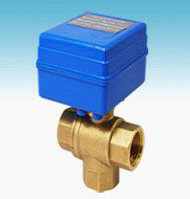 Free Shipping  5pcs/Lot G1/2'' Brass 3 way Electric Mini Ball Water Treatment Valve 12V Control Way CR01 or CR02