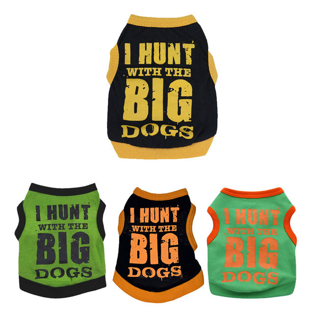 Summer Puppy Clothing Shirts Security Pet Dog Clothes for Small Dog Vest Chihuahua Teddy Yorkie Cat Vest Spring Pet Apparel
