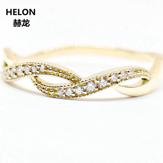 SI/H Natural Diamonds Engagement Ring for Women Solid 14k Yellow Gold Wedding Band Vintage Ring Anniversary Party Fine Jewelry