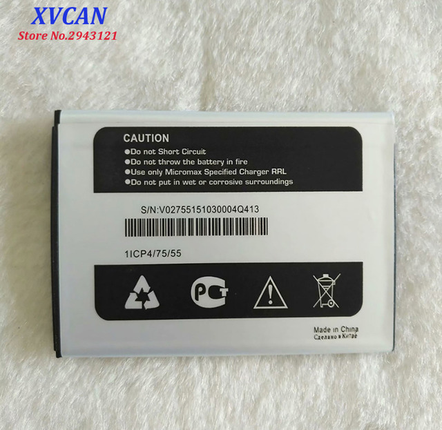 High Quality Original For Micromax Q413 Mobile Phone Lithium Battery 1800mAh Batterie Accumulator Replacement