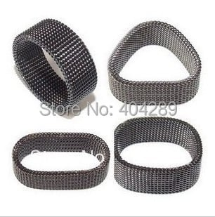 Wholesale 36pcs Stainless Steel Black Mesh Rings Jewerly