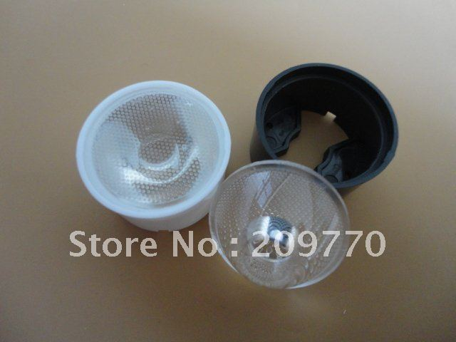 LED lens With stent 24MM grid 15 degrees lens ,1W 3W 5W LENS
