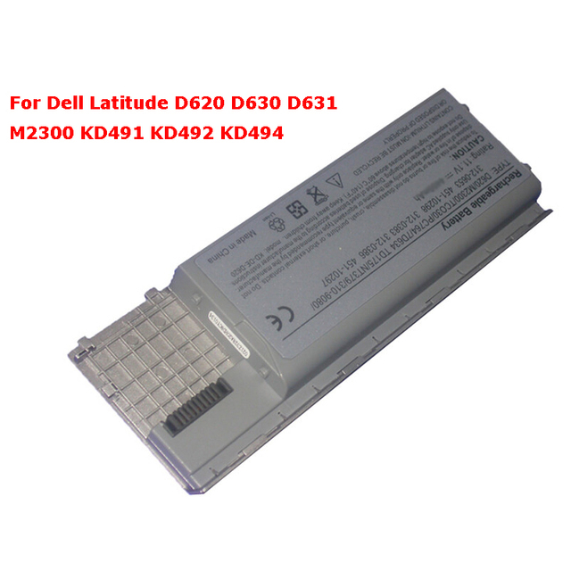 6cells Laptop Battery For Dell Latitude D620 D630 D631 M2300 KD491 KD492 KD494 KD495 NT379 PC764 PC765 PD685 RD300 TC030