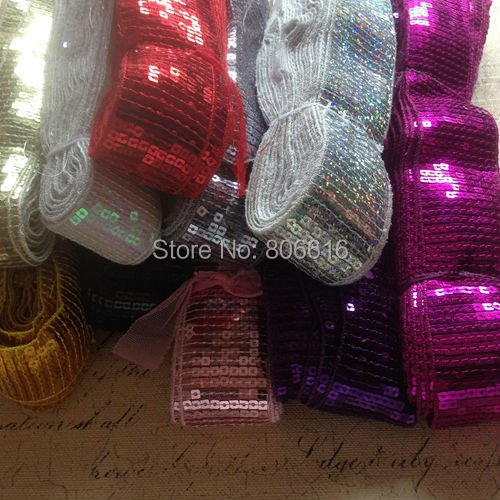 45MM 20Yards Spangle Sequins Strings Paillette Line Cord Belt Garment / Jewelry Accessories