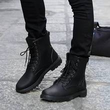 fashion shoes 45 Winter men boots men's shoes gaotong the trend of black tooling boots thigh high boots motorcycle male shoe