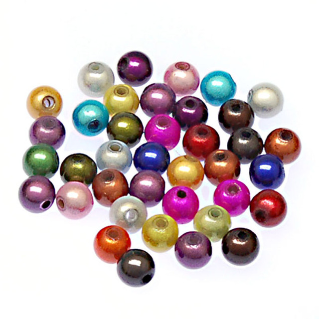 Miracle beads/perles magiques,acrylic beads,6mm round magique perles beads random mixed color