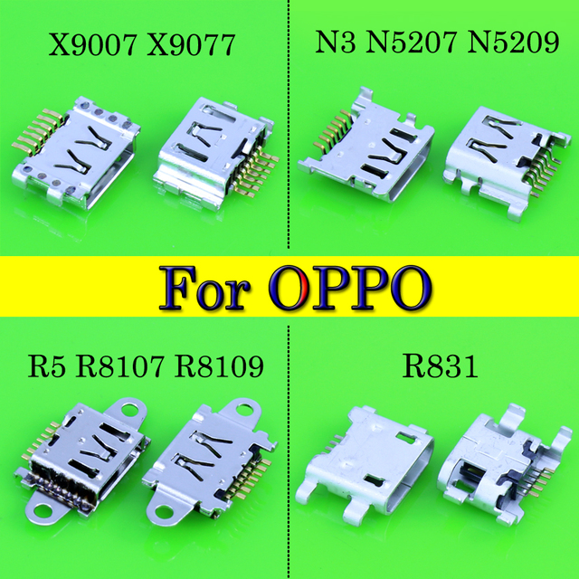 Micro Micro usb connector For OPPO X9007 X9077 find7/N3 N5207 N5209/R5 R8107 R8109/R831 charger connector dock port plug DC Jack