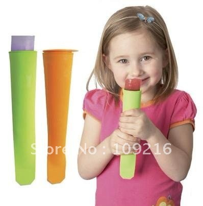 Green Good Quality 100% Food Grade Silicone 3pcs/set Popsicle Mold